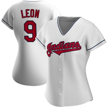 Authentic Sandy Leon Women's Cleveland Indians White Home Jersey