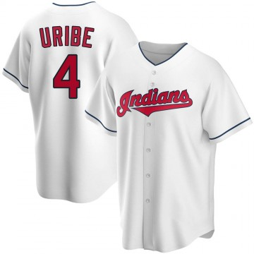 Replica Juan Uribe Youth Cleveland Indians White Home Jersey