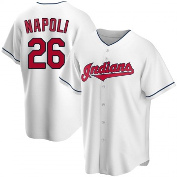 Replica Mike Napoli Men's Cleveland Indians White Home Jersey